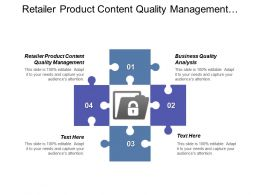 Retailer Product Content Quality Management Business Quality Analysis Cpb
