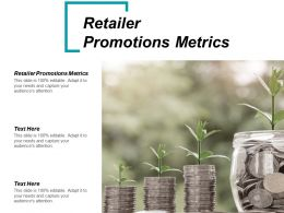 Retailer Promotions Metrics Ppt Powerpoint Presentation Show Outline Cpb