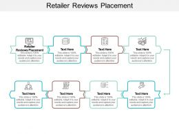 Retailer Reviews Placement Ppt Powerpoint Presentation Infographics Layout Cpb