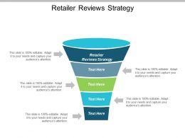 Retailer Reviews Strategy Ppt Powerpoint Presentation Show Format Ideas Cpb