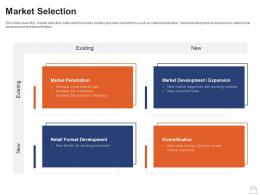 Retailing Strategies Market Selection Existing Ppt Powerpoint Presentation Visual Aids