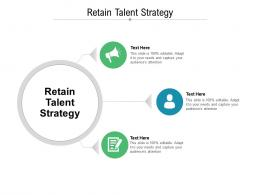 Retain Talent Strategy Ppt Powerpoint Presentation Gallery Outfit Cpb