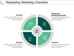 Retargeting Marketing Checklists Ppt Powerpoint Presentation Show Portfolio Cpb