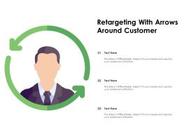 Retargeting With Arrows Around Customer