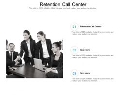 Retention Call Center Ppt Powerpoint Presentation Outline Deck Cpb