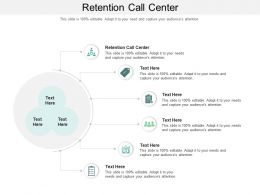 Retention Call Center Ppt Powerpoint Presentation Portfolio Display Cpb