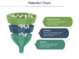 Retention Churn Ppt Powerpoint Presentation Outline Example Introduction Cpb