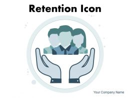 Retention Icon Circle Arrow Customer Document Employee