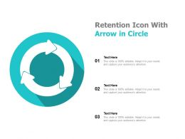 Retention Icon With Arrow In Circle