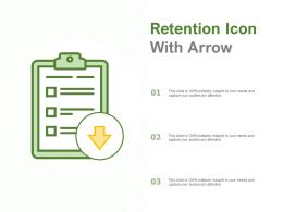 Retention Icon With Arrow