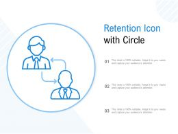 Retention Icon With Circle