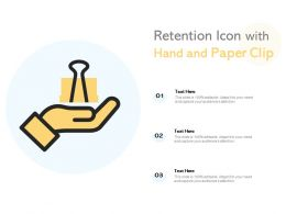 Retention Icon With Hand And Paper Clip