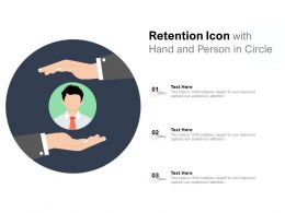Retention Icon With Hand And Person In Circle