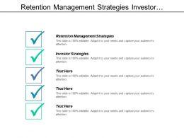Retention Management Strategies Investor Strategies Retail Pricing Analysis Cpb