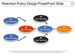 Retention Policy Design Powerpoint Slide