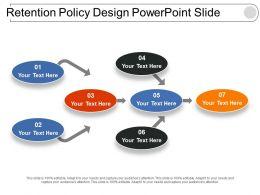Retention Policy Design Powerpoint Slide