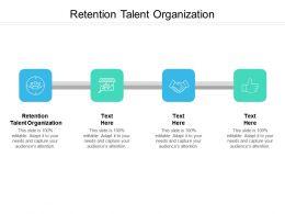 Retention Talent Organization Ppt Powerpoint Presentation Pictures Show Cpb
