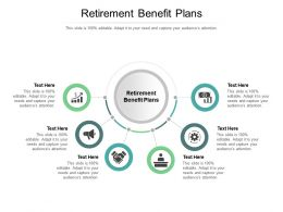 Retirement Benefit Plans Ppt Powerpoint Presentation Layouts Gridlines Cpb