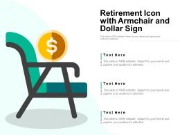 Retirement Icon With Armchair And Dollar Sign