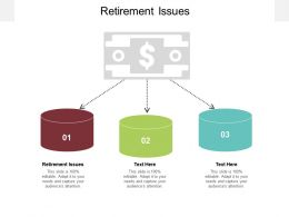 Retirement Issues Ppt Powerpoint Presentation Styles Portrait Cpb
