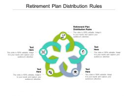 Retirement Plan Distribution Rules Ppt Powerpoint Presentation File Graphics Tutorials Cpb