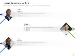 Retirement Planning Client Testimonials Client Ppt Inspiration Layout Ideas