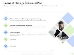 Retirement Planning Impact Of Having A Retirement Plan Ppt File Format Ideas
