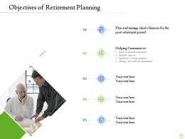 Retirement Planning Objectives Of Retirement Planning Ppt Template File Formats