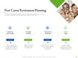 Retirement Planning Post Career Retirement Planning Ppt Powerpoint Model