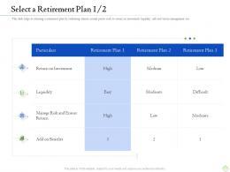 Retirement Planning Select A Retirement Plan Liquidity Ppt Slide Download