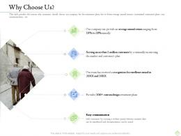 Retirement Planning Why Choose Us Ppt Summary Graphics Design