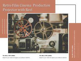 Retro Film Cinema Production Projector With Reel