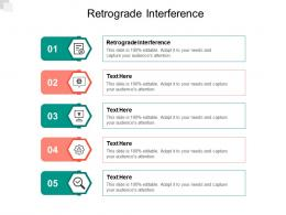 Retrograde Interference Ppt Powerpoint Presentation Gallery Inspiration Cpb