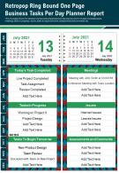 Retropop Ring Bound One Page Business Tasks Per Day Planner Report PPT PDF Document