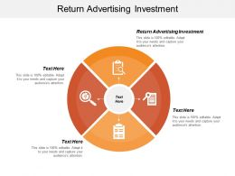 Return Advertising Investment Ppt Powerpoint Presentation Infographics Graphics Cpb