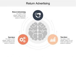 Return Advertising Ppt Powerpoint Presentation Gallery Backgrounds Cpb