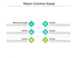 Return Common Equity Ppt Powerpoint Presentation Icon Pictures Cpb