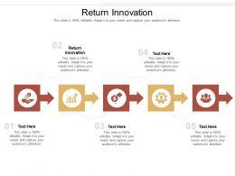Return Innovation Ppt Powerpoint Presentation Layouts Slides Cpb