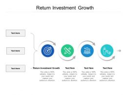 Return Investment Growth Ppt Powerpoint Presentation Visual Aids Gallery Cpb