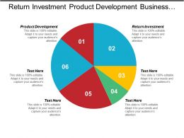 Return Investment Product Development Business Meeting Customer Retention