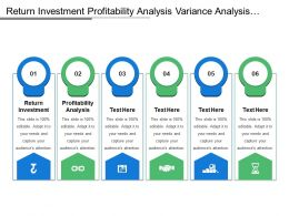 Return Investment Profitability Analysis Variance Analysis Product Development Modeling