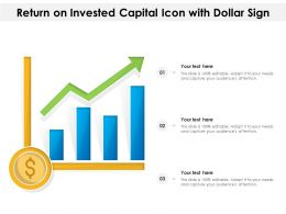 Return On Invested Capital Icon With Dollar Sign