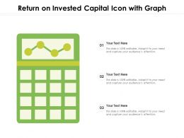 Return On Invested Capital Icon With Graph
