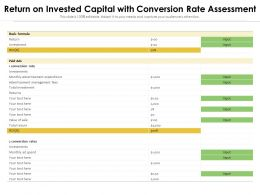 Return On Invested Capital With Conversion Rate Assessment
