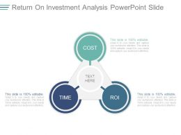 Return On Investment Analysis Powerpoint Slide