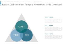 Return On Investment Analysis Powerpoint Slide Download