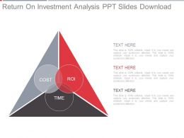 Return On Investment Analysis Ppt Slides Download
