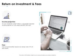 Return On Investment And Fees Growth Ppt Powerpoint Presentation Portfolio Clipart