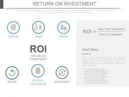 Return On Investment Business Ppt Slides