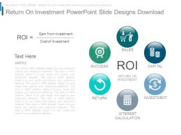 Return On Investment Powerpoint Slide Designs Download